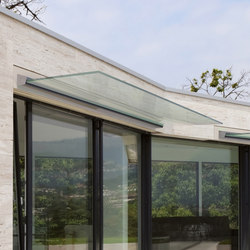Maxima glass canopy system | Glass porches | Metalglas Bonomi