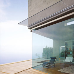Maxima glass canopy system B-4040 | Glass porches | Metalglas Bonomi