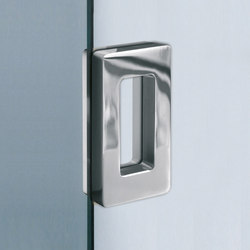 V-534-INC | Flush pull handles for glass doors | Metalglas Bonomi