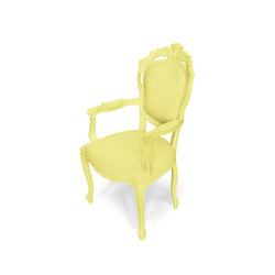 Plastic Fantastic dining chair armchair yellow | Gartenstühle | JSPR