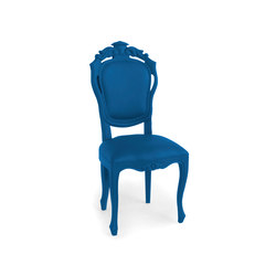Plastic Fantastic dining chair evening blue | Sedie da giardino | JSPR