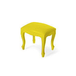 Plastic Fantastic small bench yellow | Poufs | JSPR