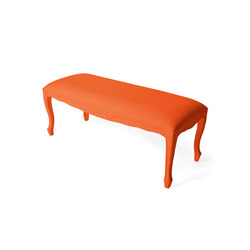 Plastic Fantastic large bench orange | Garden benches | JSPR
