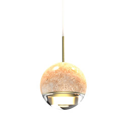 Wandering Star Travertino Stone | Suspended lights | VISO