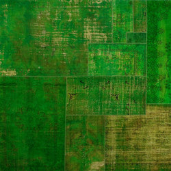 Patchwork Decolorized green | Rugs / Designer rugs | GOLRAN 1898