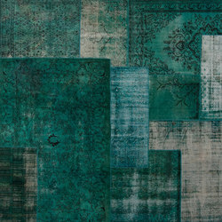 Patchwork Decolorized turquoise | Tappeti / Tappeti d'autore | GOLRAN 1898