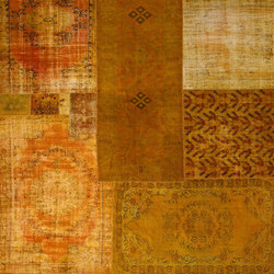 Patchwork Decolorized yellow | Rugs / Designer rugs | GOLRAN 1898