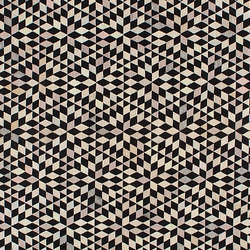 Triangles Diamond black cream | Rugs / Designer rugs | GOLRAN 1898