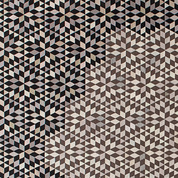 Triangles Diamond medallion black cream | Rugs / Designer rugs | GOLRAN 1898