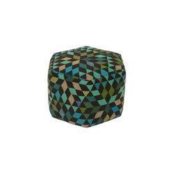 Triangles Pouf Diamond apple green high | Pouf | GOLRAN 1898