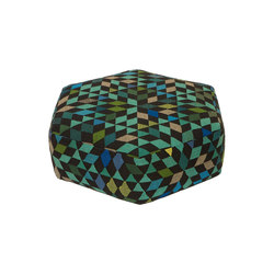 Triangles Pouf Diamond apple green low | Pouf | GOLRAN 1898