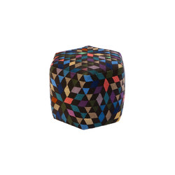 Triangles Pouf Diamond black high | Pouf | GOLRAN 1898