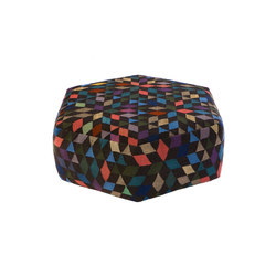 Triangles Pouf Diamond black low | Poufs | GOLRAN 1898