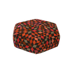 Triangles Pouf Diamond strawberry low | Poufs | GOLRAN 1898
