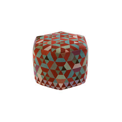Triangles Pouf Trianglehex almond green high | Poufs | GOLRAN 1898