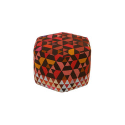Triangles Pouf Trianglehex strawberry high | Poufs | GOLRAN 1898