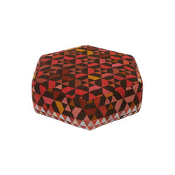 Triangles Pouf Trianglehex strawberry low | Poufs | GOLRAN 1898