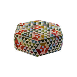 Triangles Pouf Trianglehex sweet green low | Pouf | GOLRAN 1898
