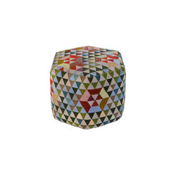 Triangles Pouf Trianglehex sweet green high | Poufs / Polsterhocker | GOLRAN 1898