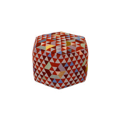 Triangles Pouf Trianglehex sweet pink high | Pouf | GOLRAN 1898