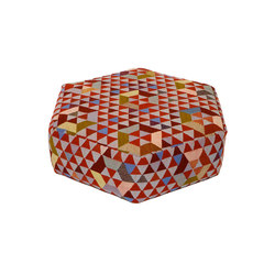 Triangles Pouf Trianglehex sweet pink low | Poufs | GOLRAN 1898