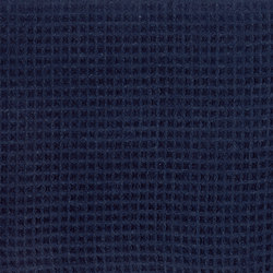 Gaufres - Indigo | Curtain fabrics | Dominique Kieffer