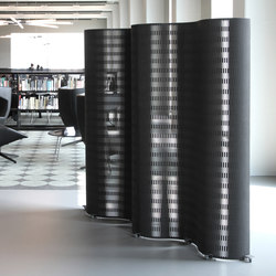 Partition Element MDF black | Space dividers | dukta