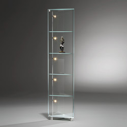 Solus IV Optiwhite Corner Cabinet | Display cabinets | Dreieck Design