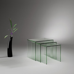 ST 08 Floatglass | Side tables | Dreieck Design