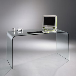 Schreibtischplatte glas  SCHREIBTISCHE MIT TISCHPLATTE AUS GLAS - Hochwertige Designer ...