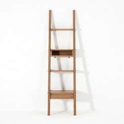 Simply City LADDER SHELF with DRAWER & NICHE | Porta asciugamani | Karpenter
