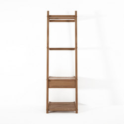 Simply City LADDER STANDING HANGER with DRAWER & SHELVES | Freestanding wardrobes | Karpenter