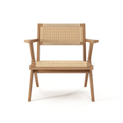 Tribute EASY CHAIR with WOVEN DANISH PAPER CORD | Poltrone | Karpenter