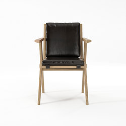 Tribute ARMCHAIR with LEATHER Satin Black | Sillas | Karpenter