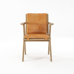 Tribute ARMCHAIR with LEATHER Tan Cognac | Sillas | Karpenter