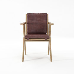 Tribute ARMCHAIR with LEATHER Dark Brownie | Chairs | Karpenter