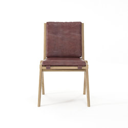 Tribute CHAIR with LEATHER Dark Brownie | Chairs | Karpenter