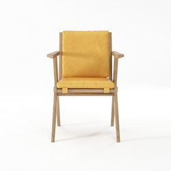 Tribute ARMCHAIR with LEATHER Mustard | Sillas | Karpenter