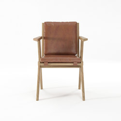 Tribute ARMCHAIR with LEATHER Vintage Brown | Sillas | Karpenter