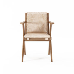 Tribute ARMCHAIR with LEATHER Aged-Cream | Chaises | Karpenter