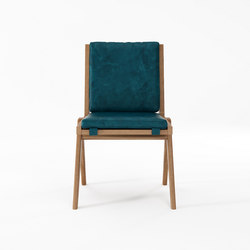 Tribute CHAIR with LEATHER Deep Blue | Chairs | Karpenter