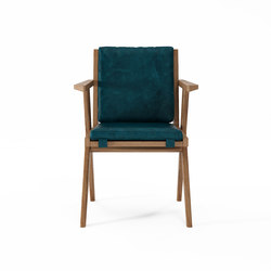 Tribute ARMCHAIR with LEATHER Deep Blue | Sillas | Karpenter