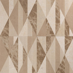 Opus | Tangram chantilly | Panneaux en pierre naturelle | Lithos Design