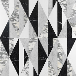 Opus | Tangram chaplin | Natural stone panels | Lithos Design