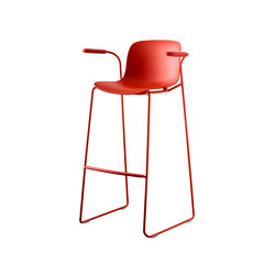 Troy | Sledge Stool with arms | Taburetes de bar | Magis