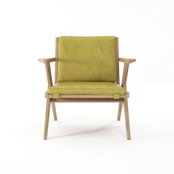 Tribute EASY CHAIR with LEATHER Olive Green | Sillones | Karpenter