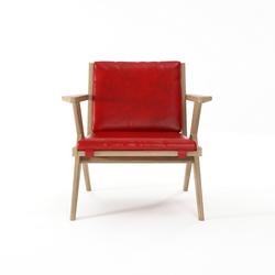 Tribute EASY CHAIR with LEATHER Vintage Red | Sillones | Karpenter