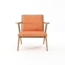 Tribute EASY CHAIR with LEATHER Tangerine | Sillones | Karpenter