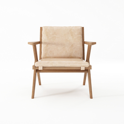 Tribute EASY CHAIR with LEATHER Aged-Cream | Sillones | Karpenter