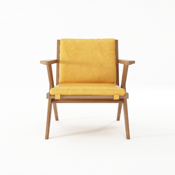 Tribute EASY CHAIR with LEATHER Mustard | Sillones | Karpenter